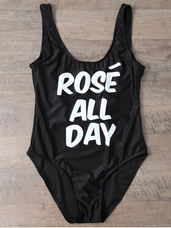 outfits Rose All Day Swimsuit - BLACK XL