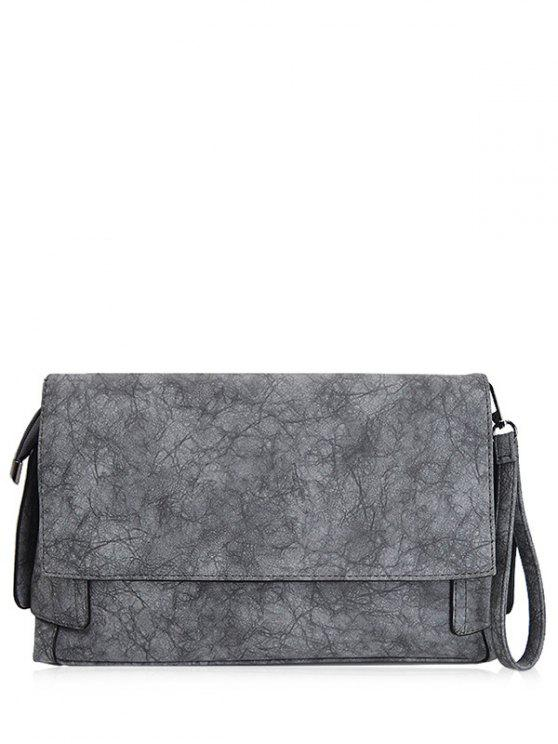 Weinlese PU-Leder-Handtasche - Grau