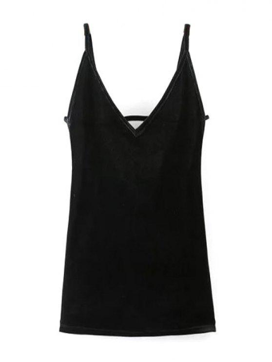 تغرق الرقبة بليوتش كامي اللباس - أسود S