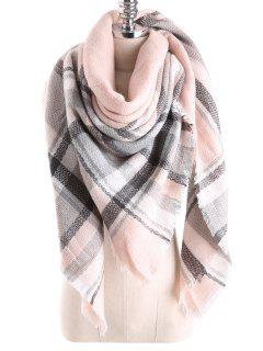 Tartan Plaid Blanket Shawl Scarf - Pearl Light Pink