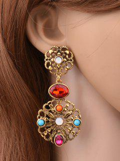 Filigree Floral Earrings - Golden