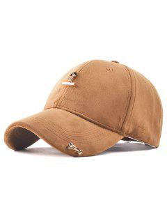 Adjustable Iron Ring Pleuche Baseball Cap - Khaki