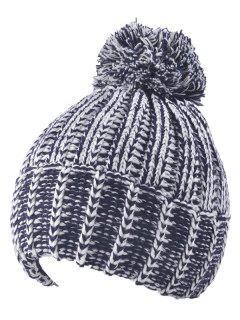 Handmade Crochet Pom Ball Beanie Hat - Cadetblue