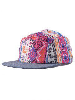 Streetwear Dear Pattern Hip Hop Baseball Cap - Rose Red