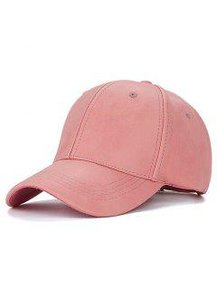 Casual PU Leather Baseball Hat - Pink