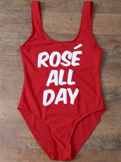 Rose All Day Swimsuit - Red M