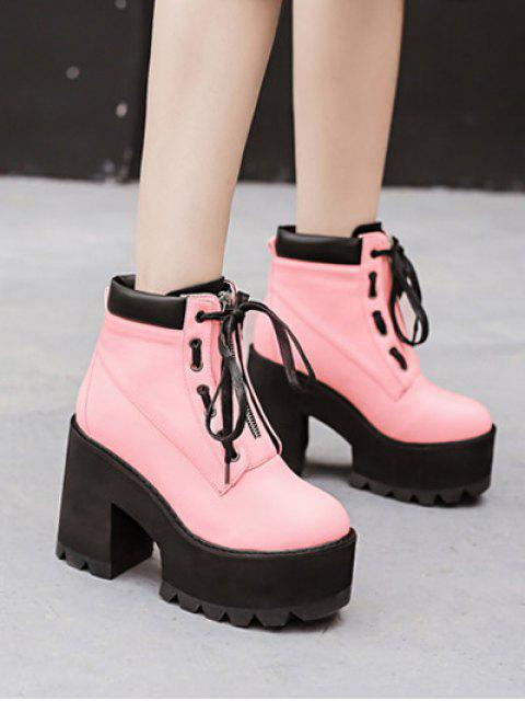 new Platform Chunky Heel Combat Boots -   Mobile