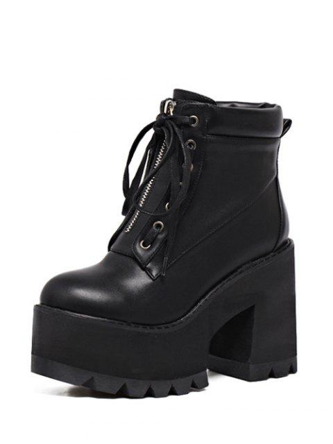 outfits Platform Chunky Heel Combat Boots -   Mobile