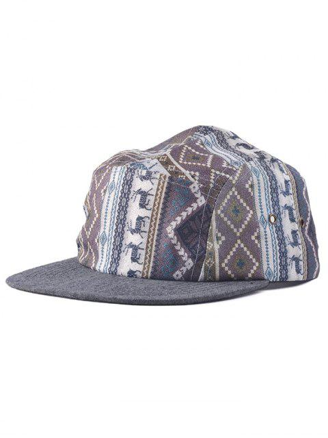 affordable Streetwear Dear Pattern Hip Hop Baseball Cap - GRAY  Mobile