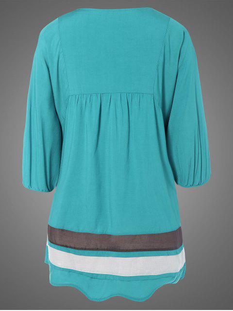 Robe tunique brodée de bavoir ,grande taille - Pers TAILLE MOYENNE Mobile