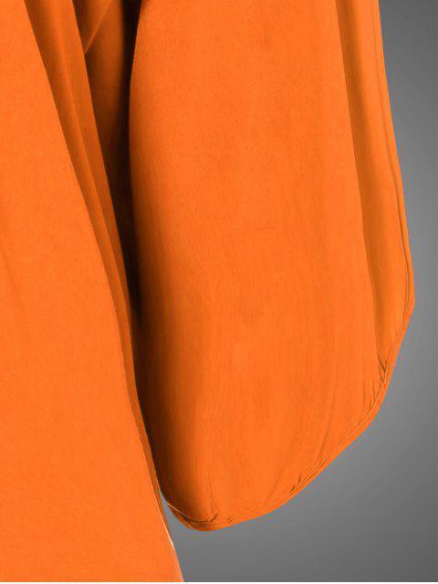 Robe tunique brodée de bavoir ,grande taille - Orange TAILLE MOYENNE Mobile