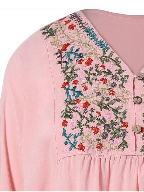Robe A line brodée décontractée - ROSE PÂLE TAILLE MOYENNE Mobile