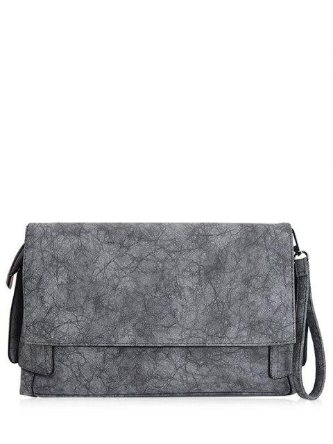 outfits Vintage PU Leather Clutch Bag - GRAY  Mobile