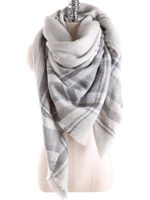 Manta de la tela escocesa de la bufanda del mantón