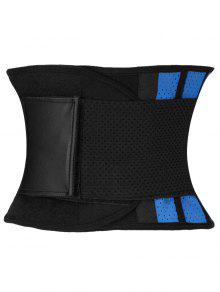 Stretchy Waist Training Corset - Blue And Black 3xl