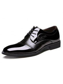 براءات الاختراع والجلود إدراج أحذية رسمية - أسود 40