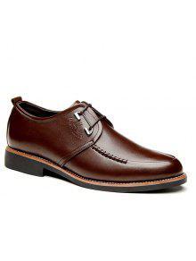 بو الجلود خياطة أحذية رسمية - بنى 43
