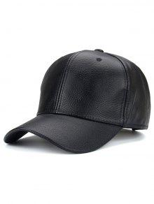 Al Aire Libre De La Sombrilla De La PU Del Cuero Del Sombrero De Béisbol - Negro