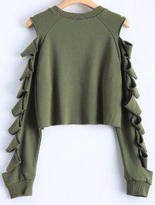 a9897ea0b4a Ripped Sleeve Cropped Sweatshirt; Ripped Sleeve Cropped Sweatshirt ...