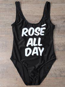 Rose All Day Swimsuit - Black Xl