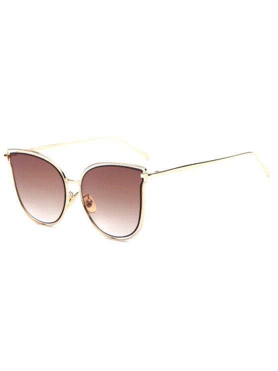 hot Hollow Out Butterfly Shaped Sunglasses - TEA-COLORED