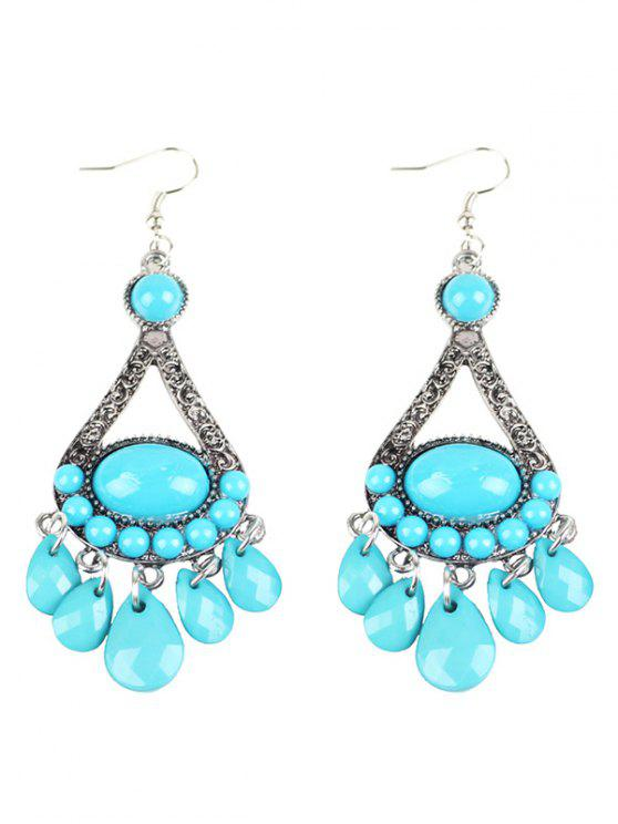 sale Bohemian Adorn Beads Chandelier Earrings - WINDSOR BLUE