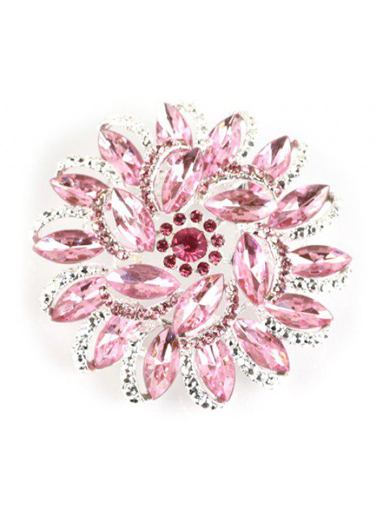 latest Flower Rhinestone Brooch - PINK