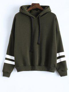 Long Sleeve Striped Oversized Hoodie - Hampton Green