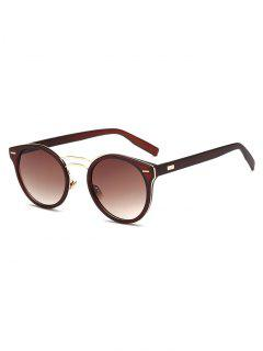 Double Nose Bridges Oval Sunglasses - Tea-colored