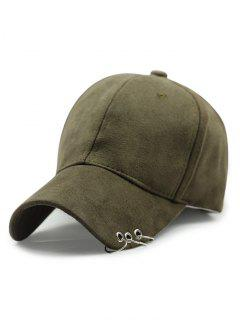 Outdoor Iron Circle Pleuche Baseball Hat - Army Green