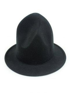Vintage British Big Brimmed Fedora Hat - Black