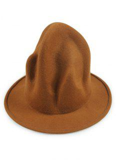 Vintage British Big Brimmed Fedora Hat - Light Coffee