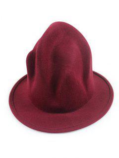Vintage British Big Brimmed Fedora Hat - Wine Red