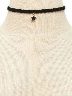 Collar Gargantilla De Banda Para El Cuello Weaving Estrella - Negro