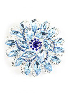 Broche Floral Y Brillantes - Azur