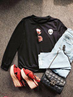 Alien Patch Sweatshirt - Black S