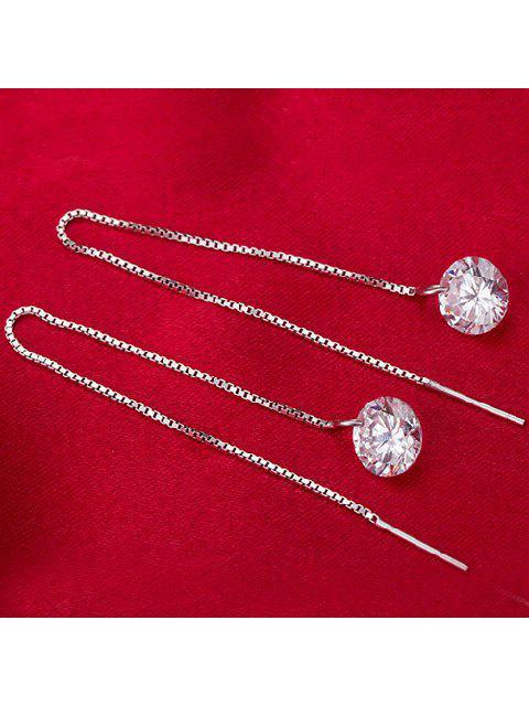 Boucle d'oreille chaîne de pierre gemme artificielle - Argent  Mobile