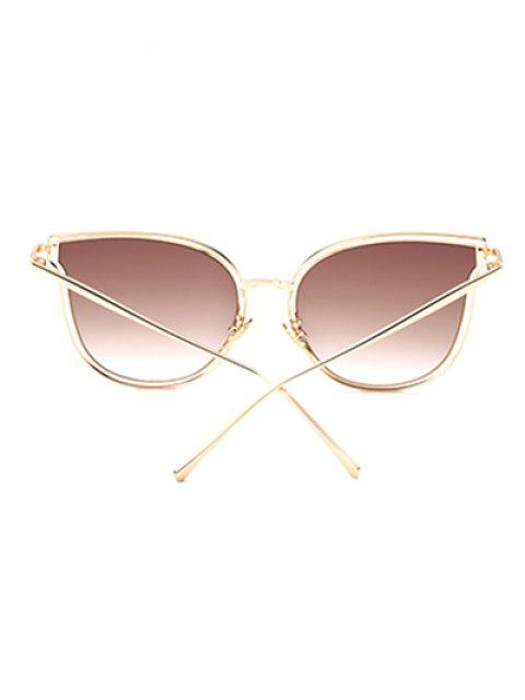 hot Hollow Out Butterfly Shaped Sunglasses - TEA-COLORED  Mobile