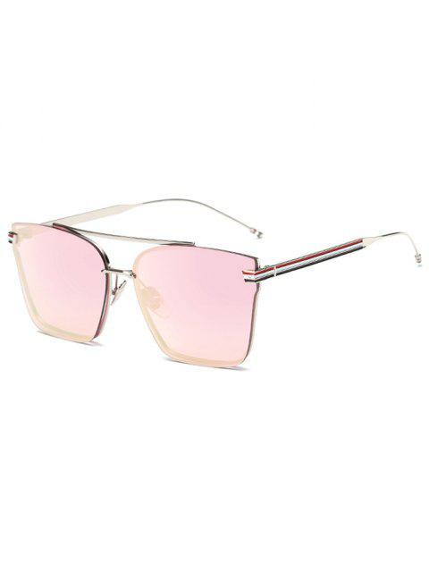 Rayado de metal pierna cuadrados de espejo gafas de sol - Rosas bebés  Mobile