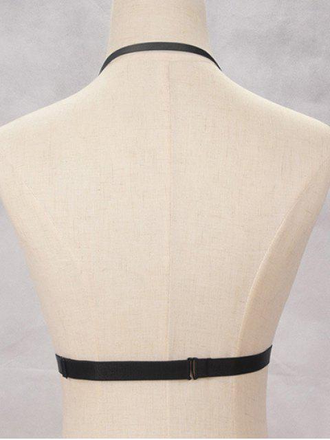 ladies Bra Bondage Harness Body Jewelry - BLACK  Mobile