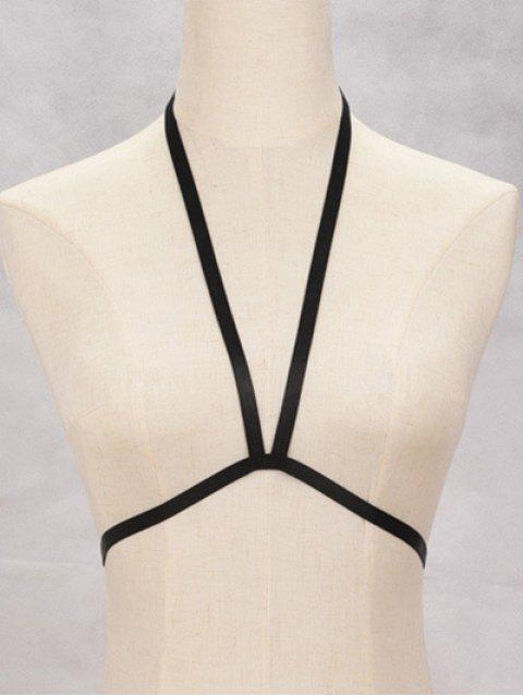 fashion Bra Bondage Harness Elastic Body Jewelry - BLACK  Mobile