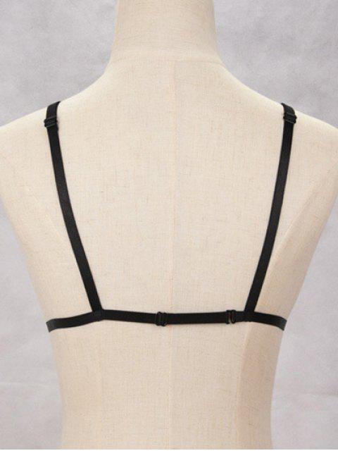 Soutien-gorge de bondage creux en harnais - Noir  Mobile