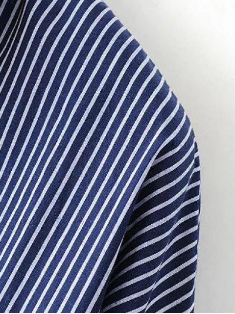 shops Patch Pocket Striped Blouse - CADETBLUE S Mobile