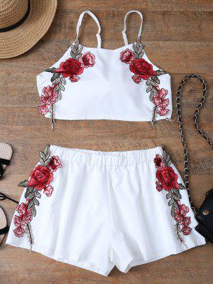 Applique Bowknot Top with Shorts
