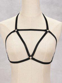Buy Bra Bondage Harness Triangle Body Jewelry - BLACK