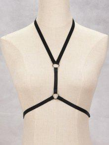 Buy Circle Bra Bondage Harness Body Jewelry - BLACK