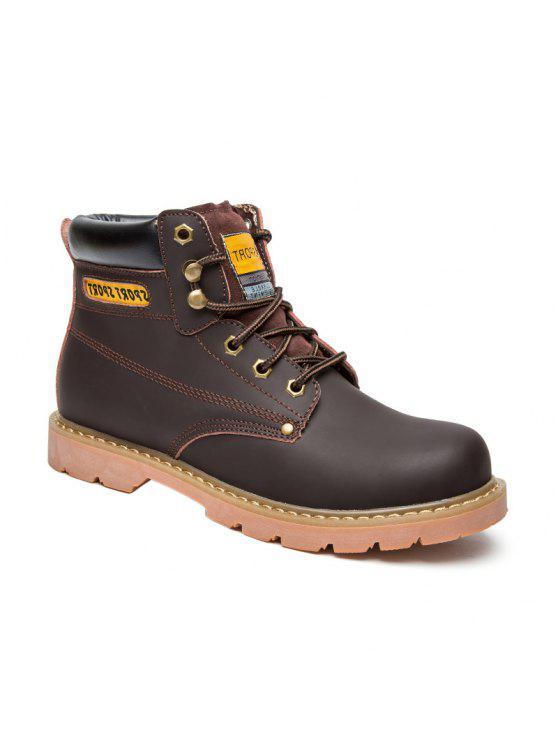 العيينة خياطة الأحذية الجلدية العمل - براون العميق 42