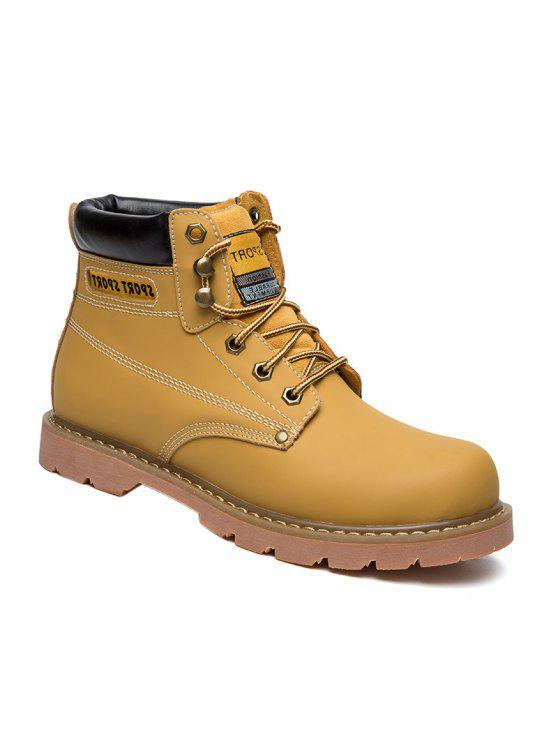 العيينة خياطة الأحذية الجلدية العمل - الأصفر 42