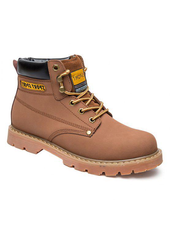 العيينة خياطة الأحذية الجلدية العمل - البني الفاتح 43