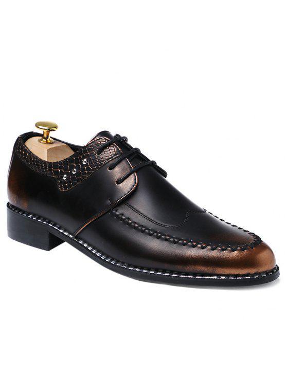 بو الجلود تنقش لوحة الأحذية الرسمية - بنى 40
